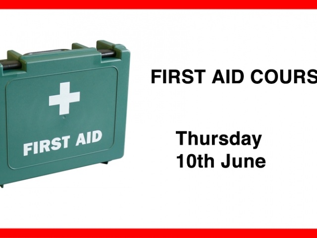 First Aid Course - 10th June